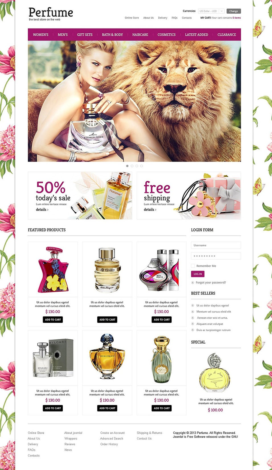 elite perfumes store virtuemart template8