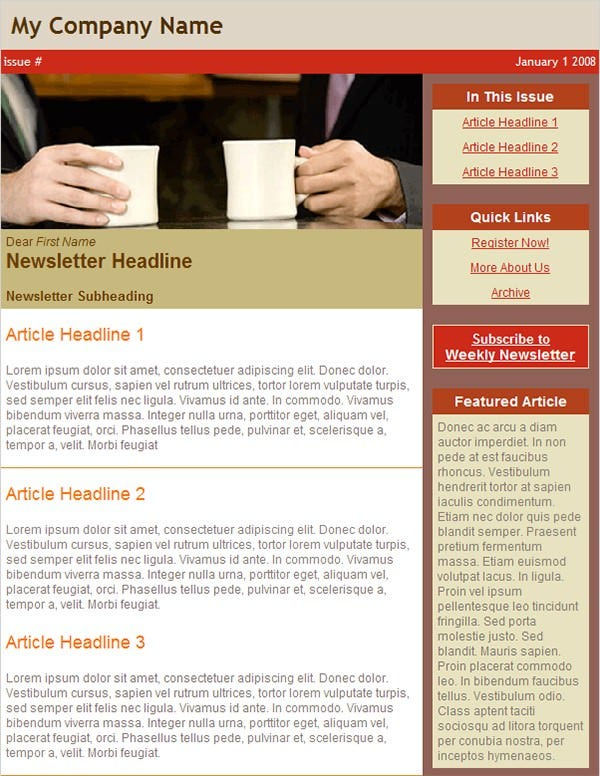 email newsletter business 1