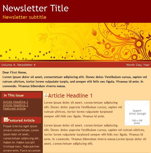 email newsletter trendy