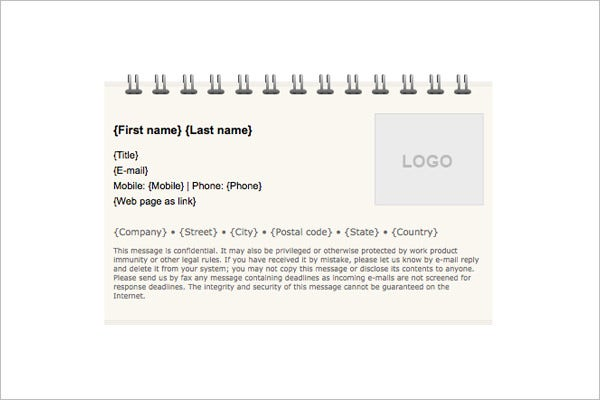 email signature template 12