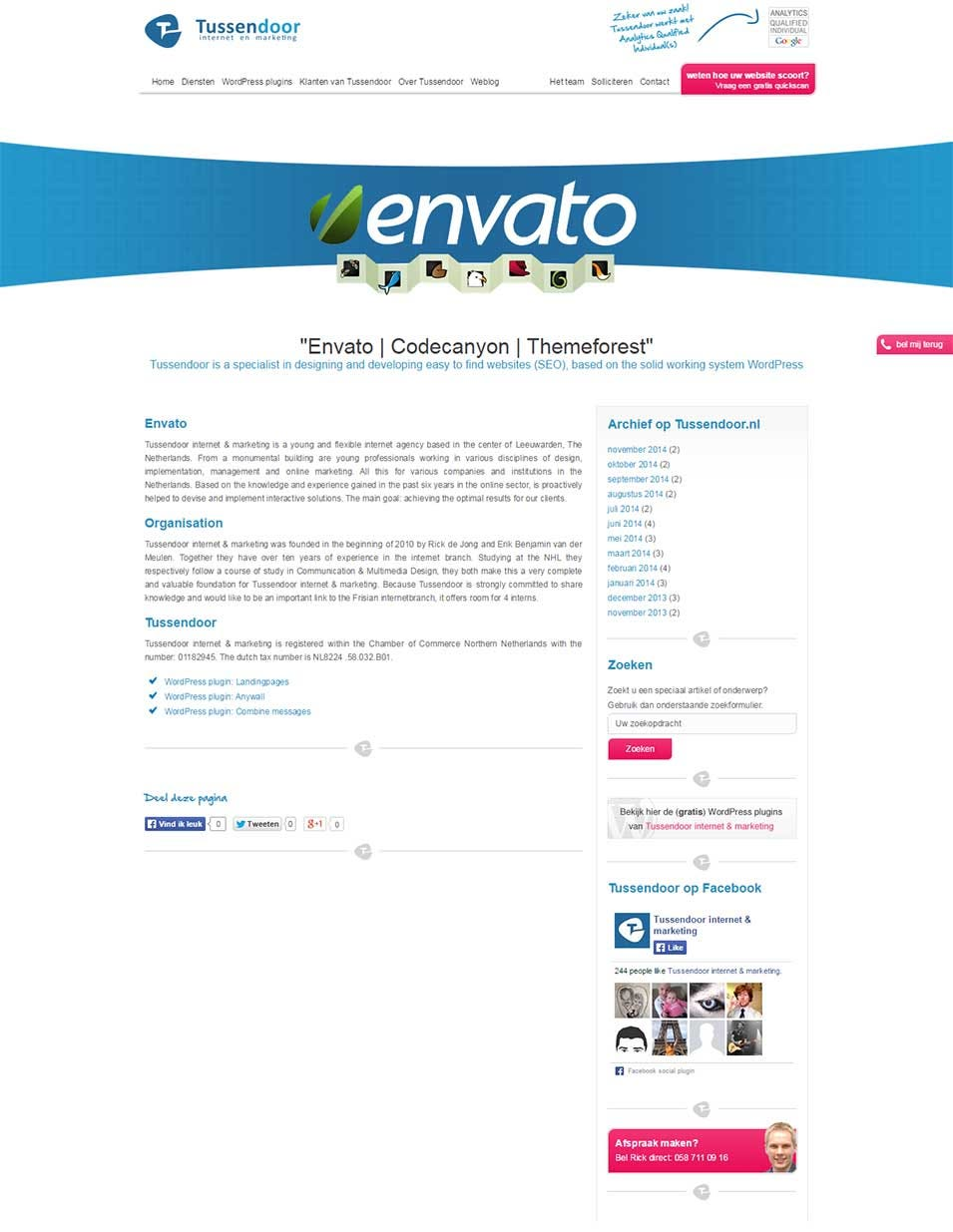 envato tussendoor internet marketing tussendoor internet marketing de online marketing specialist van friesland