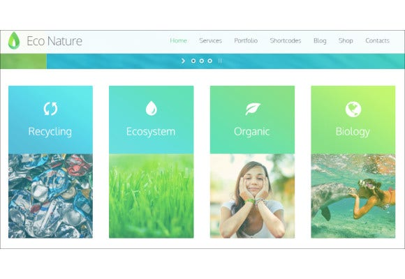 environmental charity non profit wordpress theme