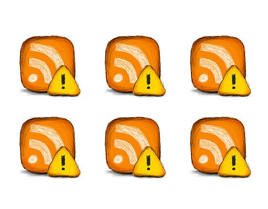 error rss feed icon