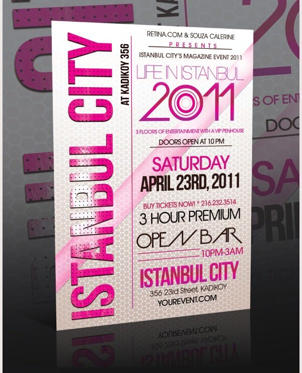 Stunning PSD Event Flyer Templates Designs Free Premium - Event brochure template