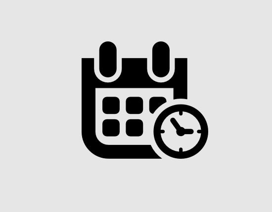 event date and time symbol free icon