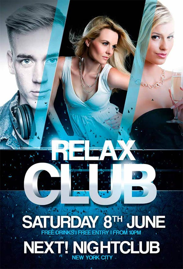 24 free psd club flyer templates designs psd free premium free relax club flyer template maxwellsz
