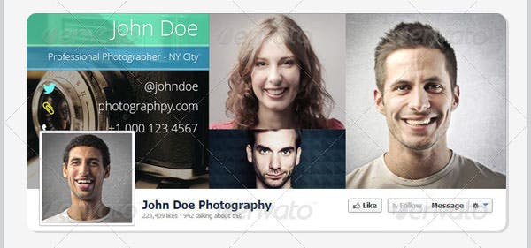 facebook timeline covers pack of 4