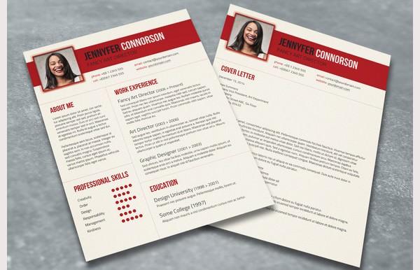 Latex resume template photo