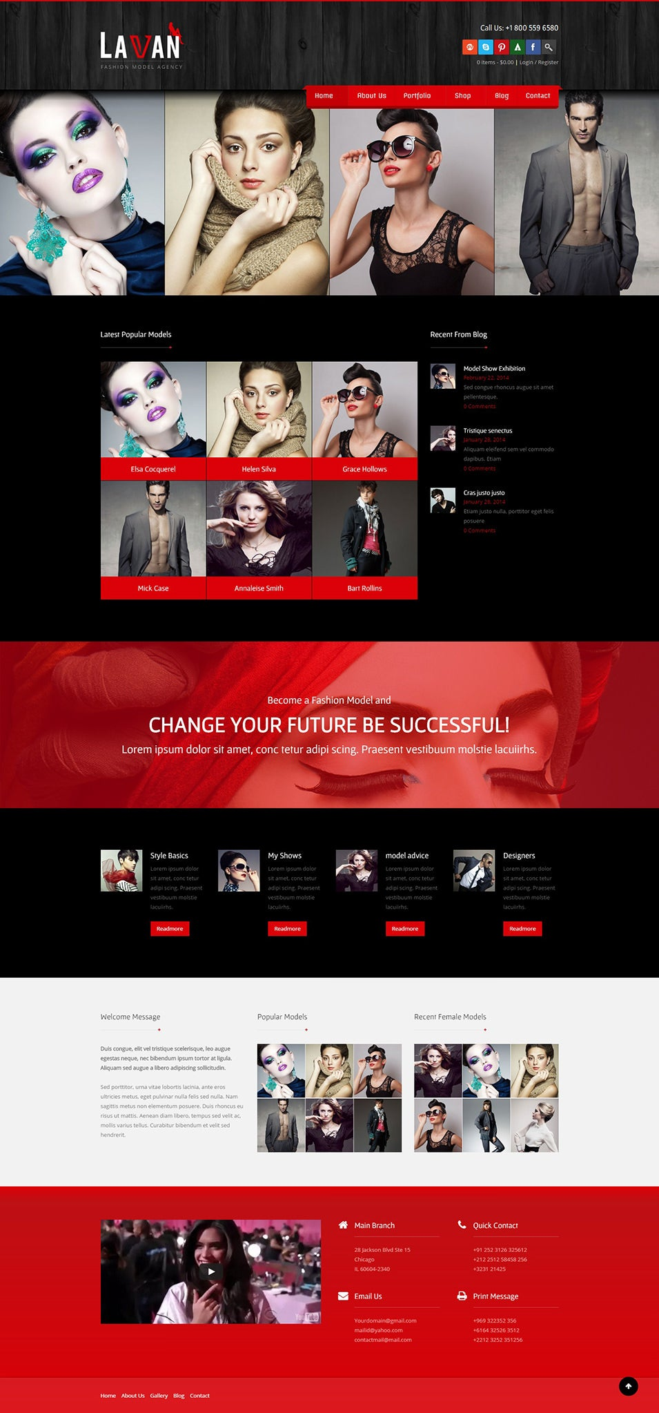 Fashion Model WordPress CMS Theme Just another WordPress Demos Sites site
