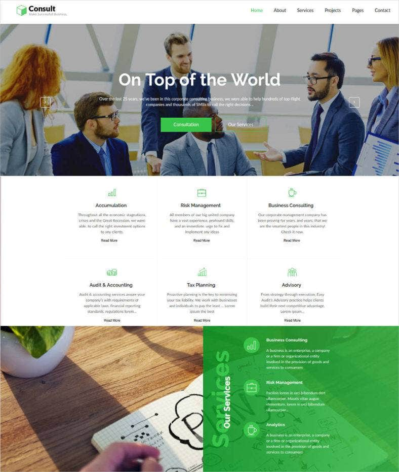 finance consulting premium motocms template 788x930