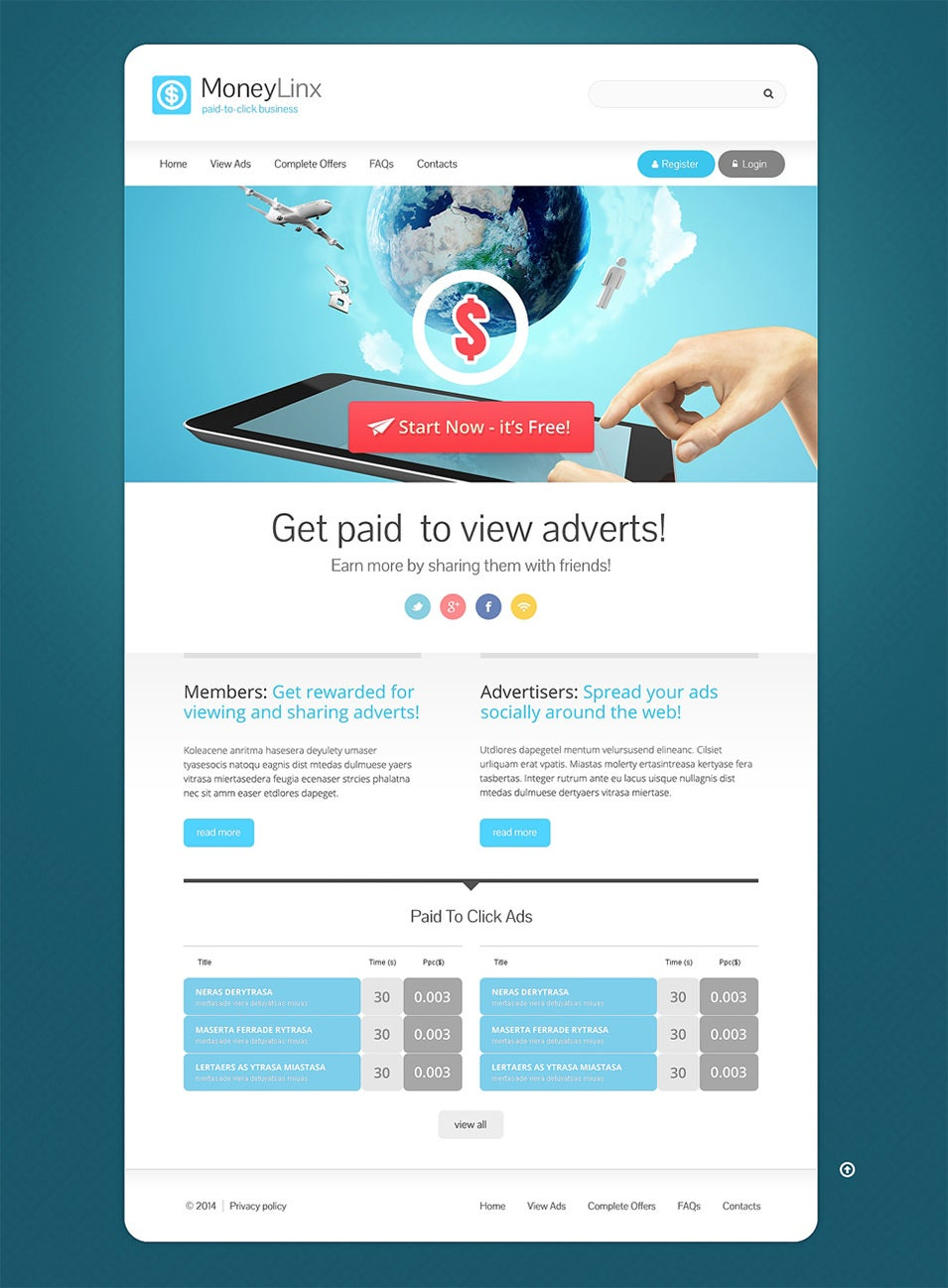 15 best website templates for financial advisors free premium templates - Website for home design ...