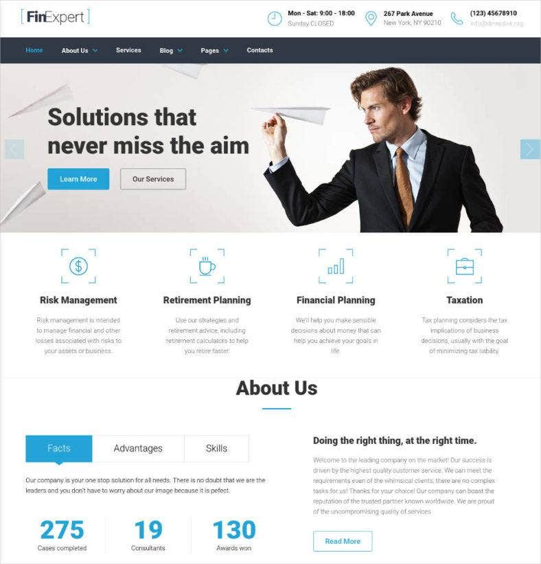 financial advisor responsive website template1 788x821