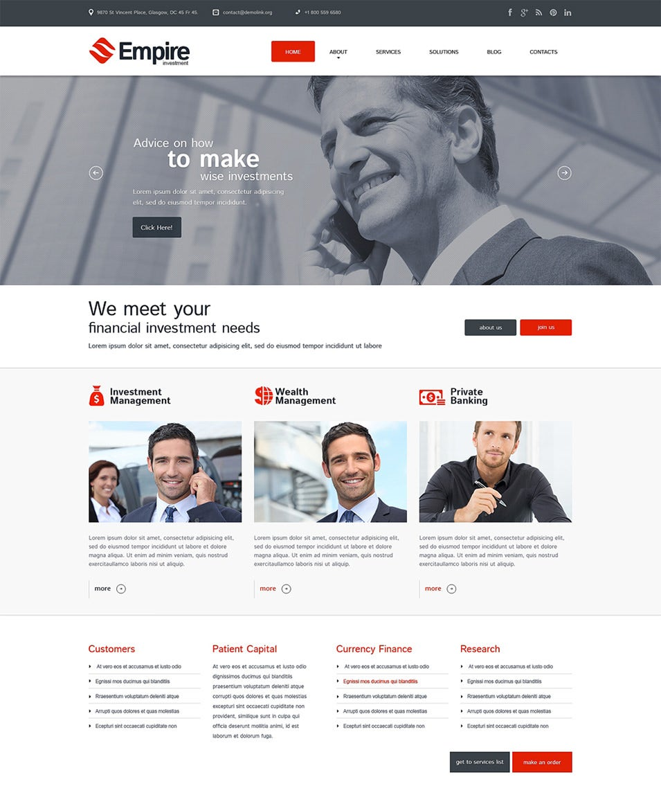financial advisor responsive wordpress theme11