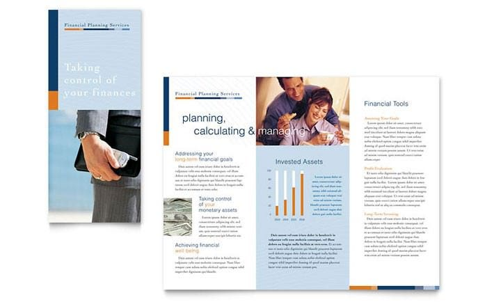 financial planning consulting brochure template