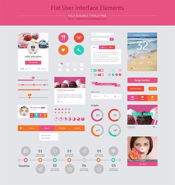 41 psd web elements for ui designers free premium for User interface design document template
