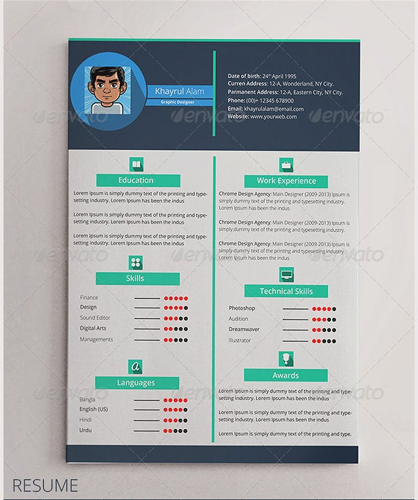 flat resume template  u2013 31  free samples  examples  format download