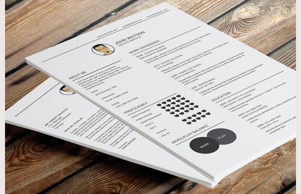 Flat Resume and Cover Letter