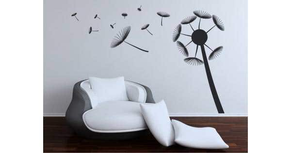 flower wall decals black stickers