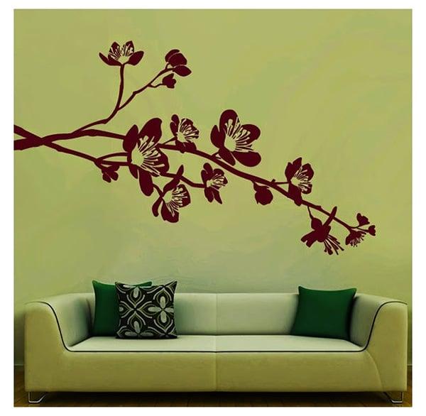 flowers on branch wall sticker