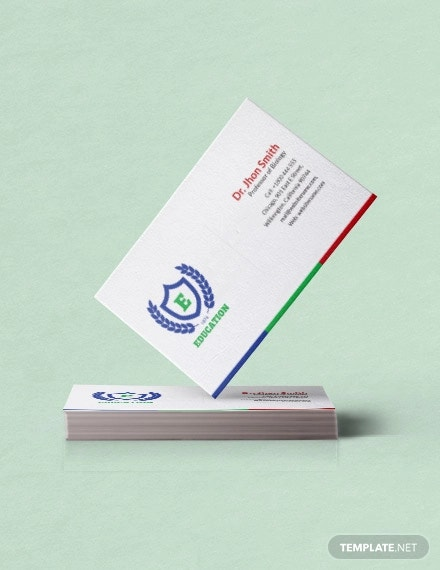 free education business card