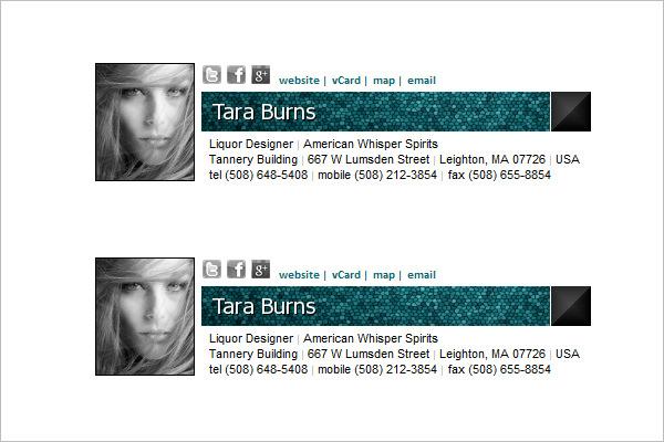 34 Email Signature Designs Templates Psd Eps Free Premium