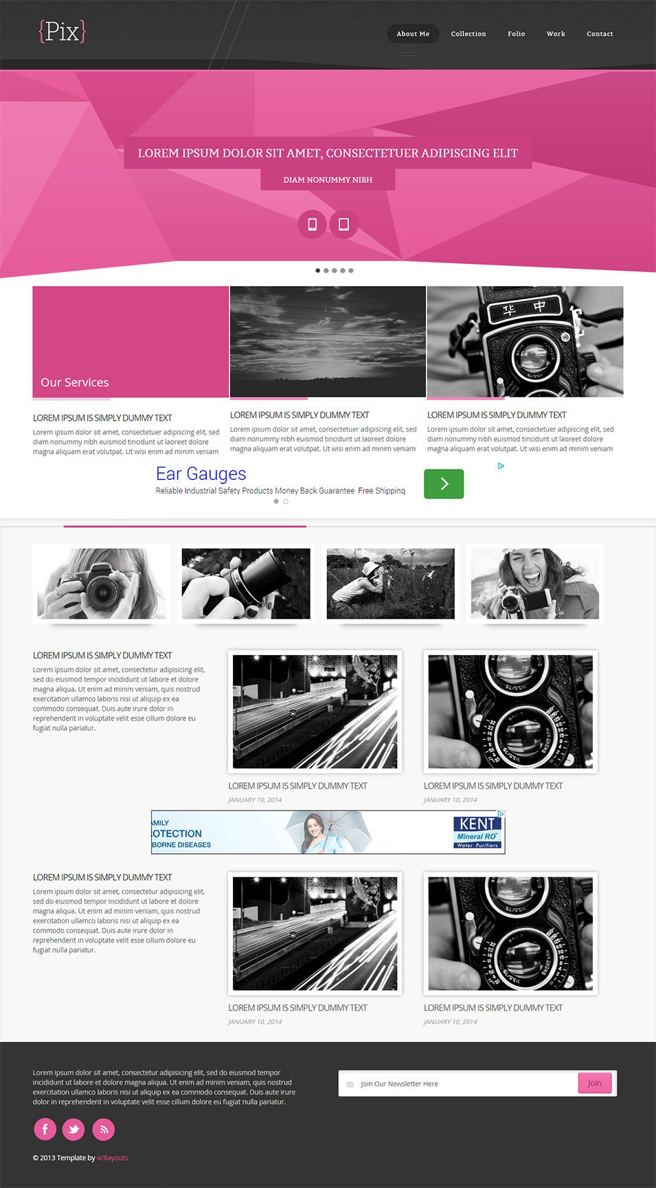 free pix website template home w3layouts