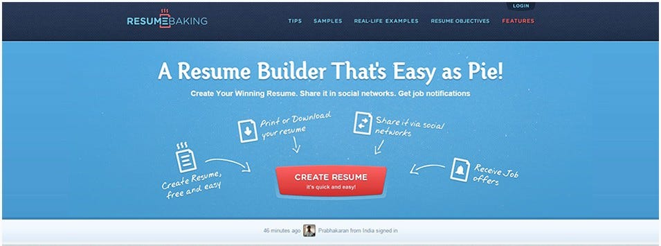 Resumebaking U2013 Resume Builder: