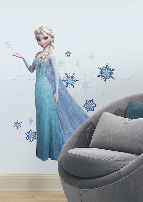frozen elsa peel and stick giant wall decals wall decal at allposters1