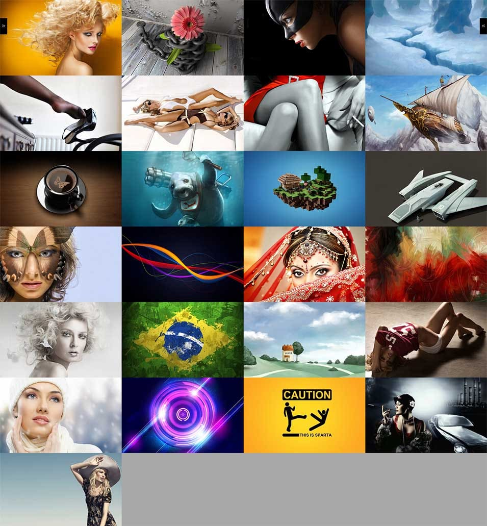 full screen galery 2012 responsive html template clapat studio