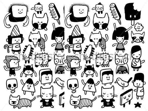 Cartoon Character Design Templates : Cartoon sketches face free premium