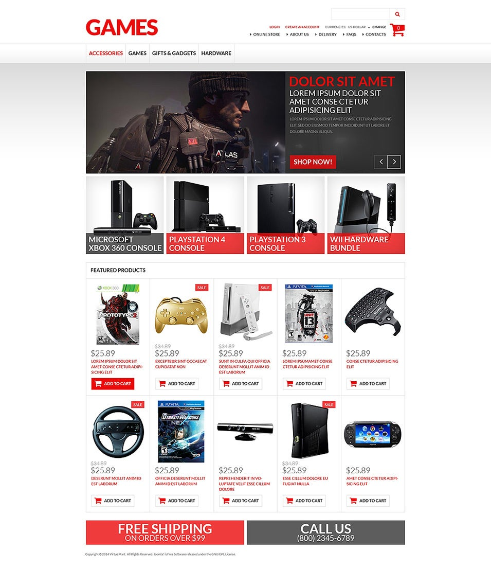 game store virtuemart website templates themes free premium