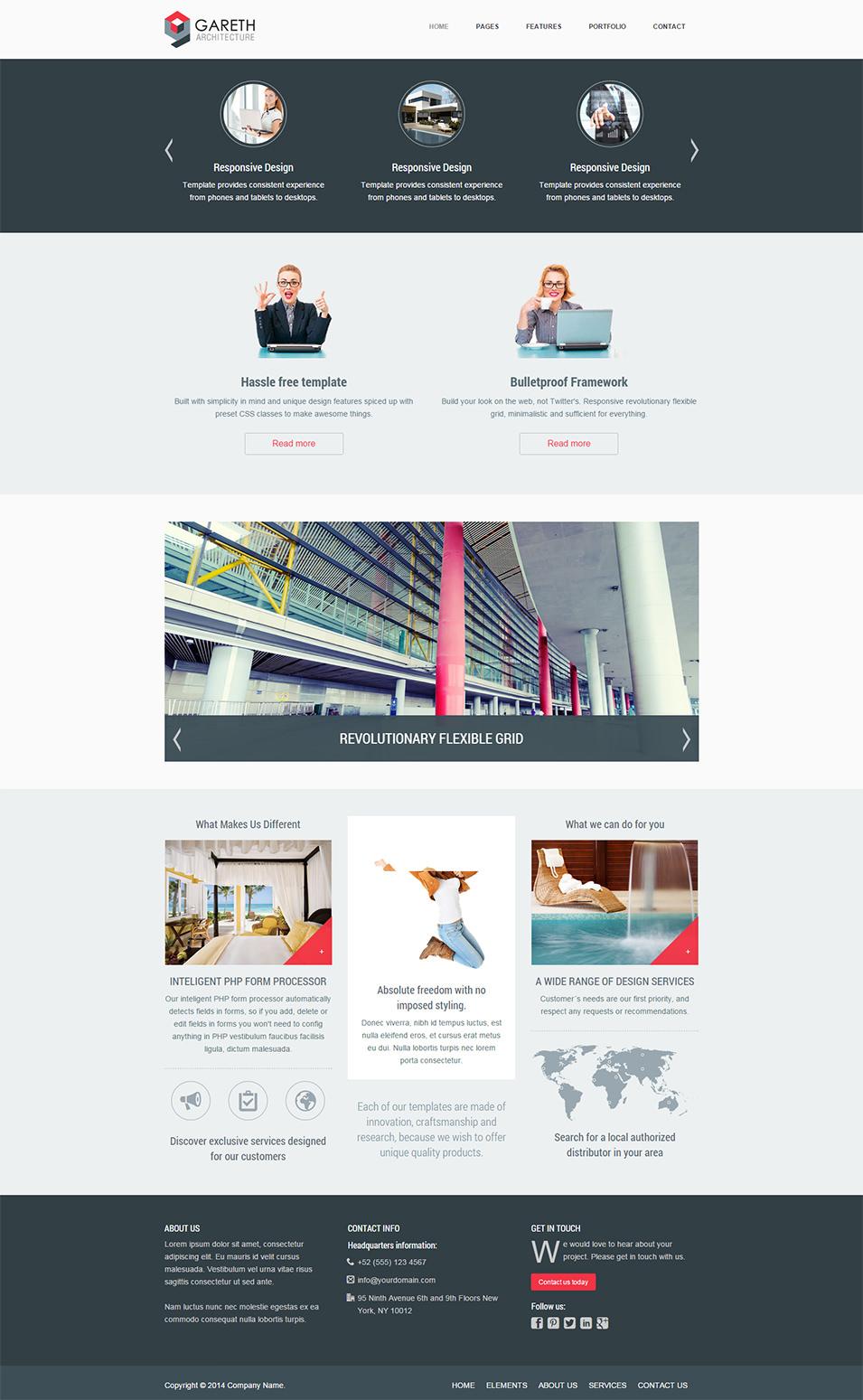 Gareth - Responsive HTML5 Architecture Template