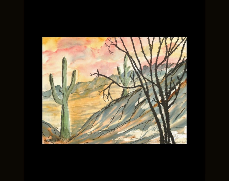 giant southwestern landscape painting modern art gallery wrap canvas