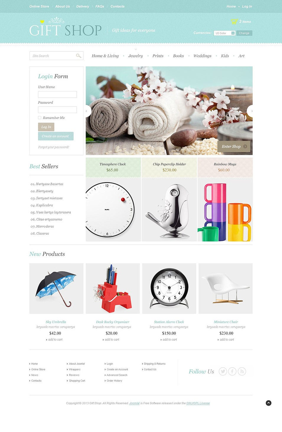 Gift Shop VirtueMart Template
