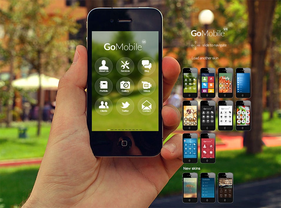 gomobile a next generation web app theme