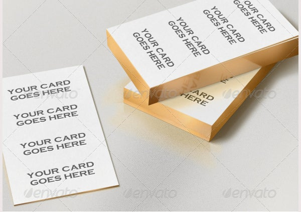 gold edge letterpress bcard mock up