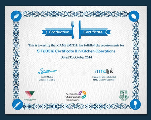 Graduation Certificate For MMC link