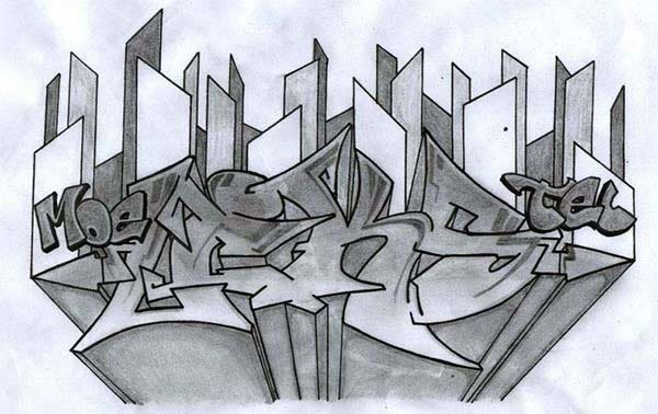 graffiti pencil art 6