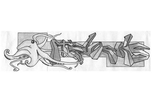 graffiti pencil drawing 13