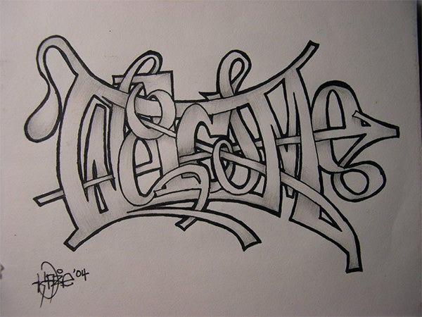 graffiti pencil drawing 2
