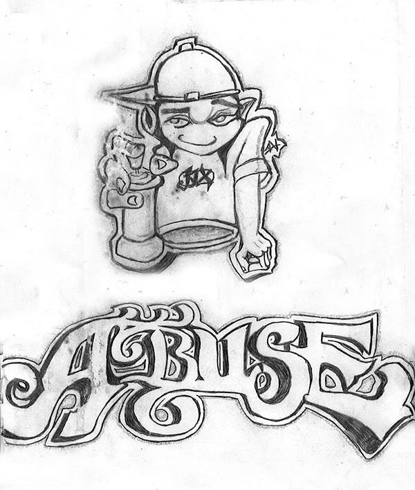 graffiti pencil drawing 4