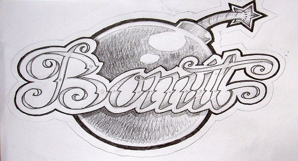 graffiti pencil drawing 6