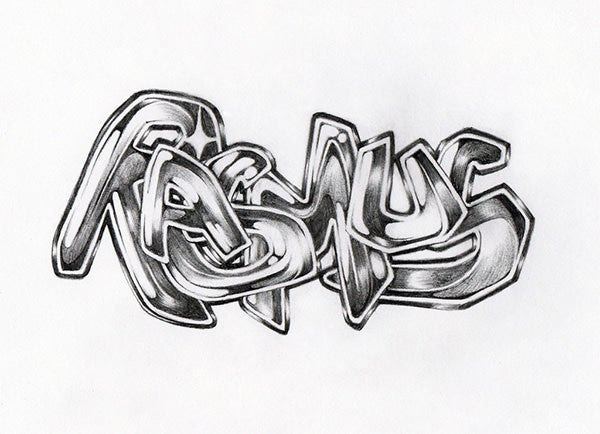 graffiti sketch name rasmus