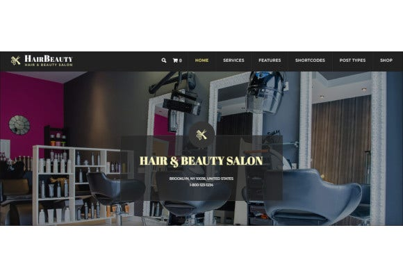 hairdresser barber and hair salon wordpress theme