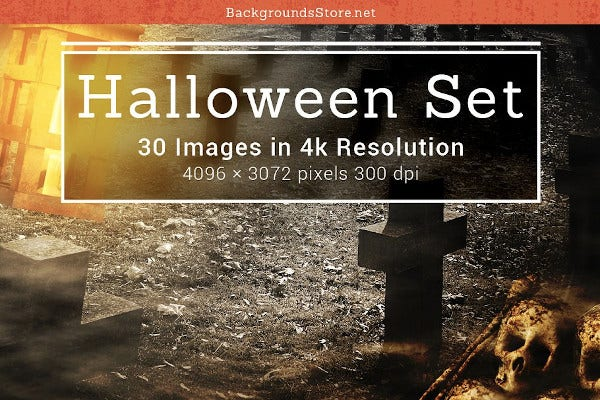 halloween backgrounds set