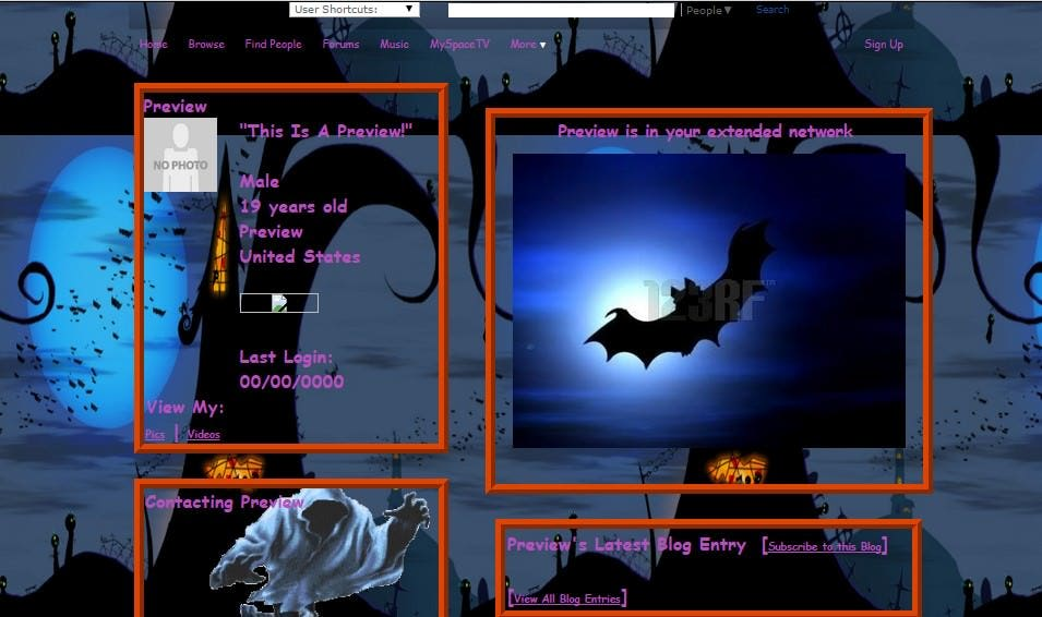 halloween in the castle myspace layouts myspace halloween in the castle layouts halloween in the castle layouts for myspace