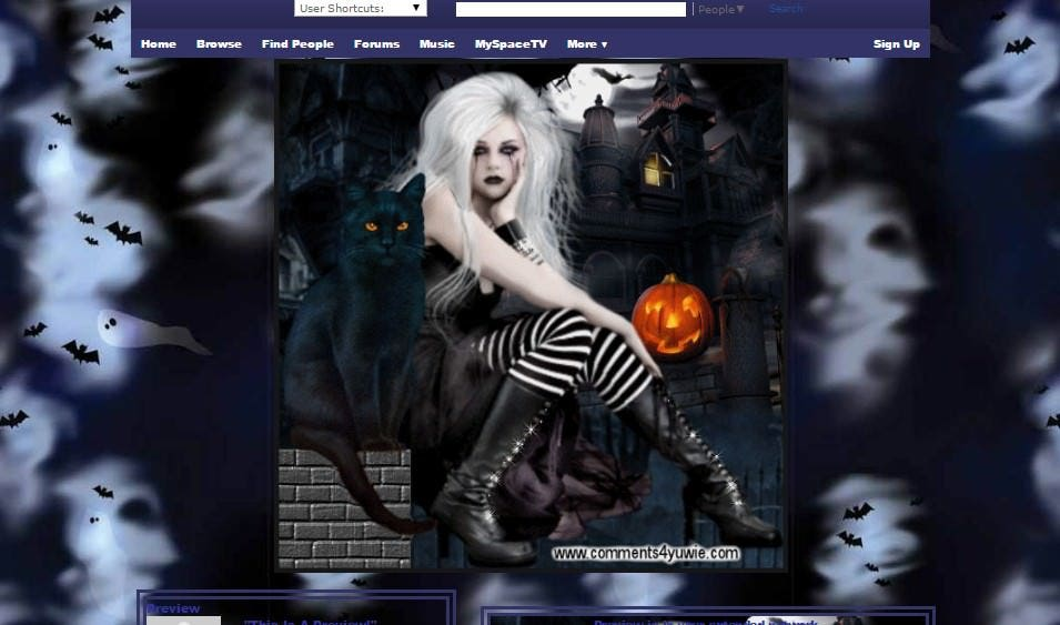 halloween night myspace layouts myspace halloween night layouts halloween night layouts for myspace