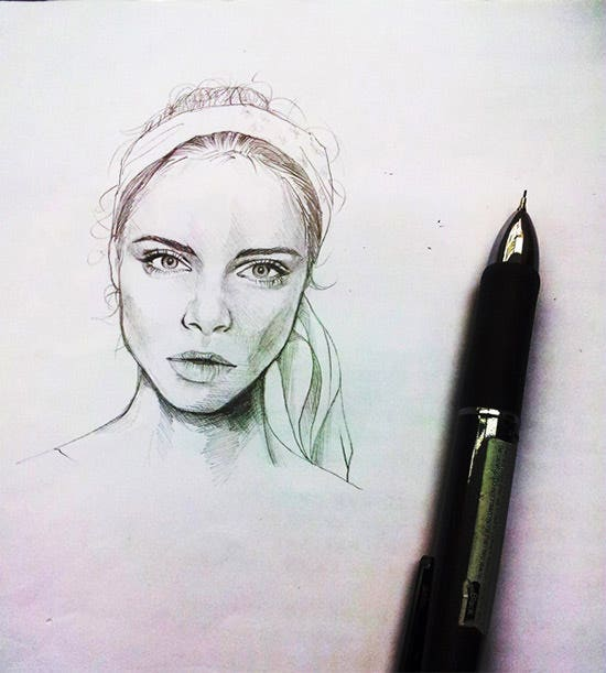 Best Realistic Pencil Girl Drawing Sketch