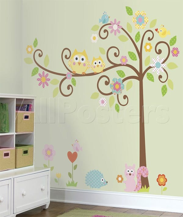 Happi Scroll Tree Peel U0026 Stick Wall Decal MegaPack