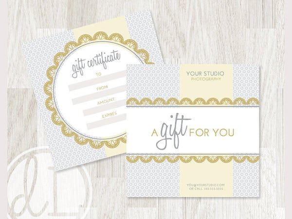 INSTANT DOWNLOAD Gift Certificate